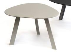 Tavolino di servizio laccato in MDF per contract PIA | Tavolino laccato - Pia