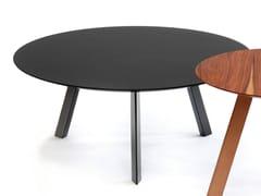 Tavolino laccato rotondo in MDF per contract PIA | Tavolino laccato - Pia