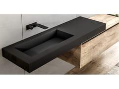 Lavabo rettangolare in Fenix-NTM® con pianoPIANI 1A | Lavabo con piano - MOBIL CRAB