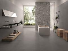 Pavimento/rivestimento in gres porcellanato effetto pietra PIASE PIANO SEGA ANTRACITE - Piase
