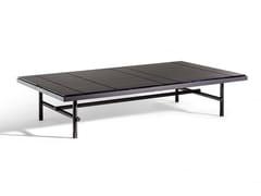 Tavolino rettangolare con piano in marmoPIERRE   Tavolino rettangolare - POLTRONA FRAU