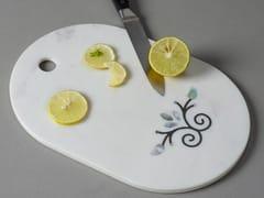 Tagliere ovale in pietra naturalePIETRA DURA   Tagliere - ORVI DESIGN STUDIO