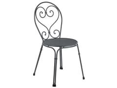 Sedia da giardino impilabile in acciaio PIGALLE | Sedia - Pigalle