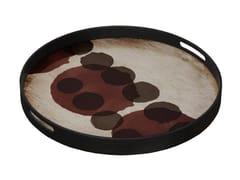 Vassoio rotondo in vetro PINOT LAYERED DOTS - Translucent Silhouettes