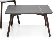 Tavolino quadrato in alluminio e pietra naturale PIPER | Tavolino quadrato - Piper