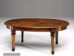 Tavolino ovale in legno massello PISA | Tavolino ovale - Canaletto