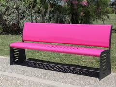 Panchina in acciaio con schienale PIUMA   Panchina con schienale -