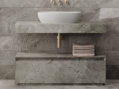 Piano lavabo singolo in gres porcellanatoPLAN - ITALGRANITI