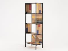 Libreria in legno di recupero PLANKE VERTICAL RACK 4 | Libreria - Planke