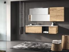 Mobile lavabo in melamina con top e lavabo in Mineralmarmo®PLANO 4 - ALPEMADRE