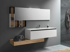 Mobile lavabo in melamina con top e lavabo in Mineralmarmo®PLANO 5 - ALPEMADRE