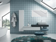 Mobile lavabo singolo sospeso con pensilePLANO - COMPOSIZIONE 16 - ALPEMADRE