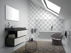 Mobile lavabo singolo sospeso in melamina con cassettiPLANO - COMPOSIZIONE 17 - ALPEMADRE