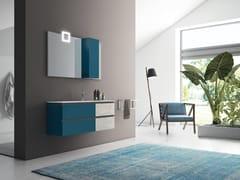 Mobile a cassetti con top e lavabo integrato in MineralmarmoPLANO - COMPOSIZIONE 18 - ALPEMADRE