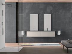 Mobile lavabo doppio sospeso in ecomalta con lavabo integratoPLANO - COMPOSIZIONE 8 - ALPEMADRE