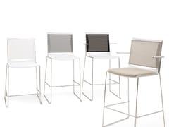 Sedia a slitta con poggiapiedi S'MESH SOFT | Sedia - S'mesh Soft