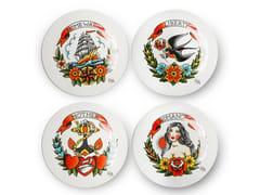 Set di piatti piano in ceramicaTATTOO   Set di piatti - POLS POTTEN