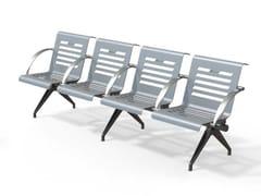 Seduta su barra in acciaio con braccioliPLATINUM | Seduta su barra - METALCO