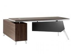 Scrivania direzionale in legno con scaffale integratoPLATINUM | Scrivania con scaffale integrato - ARREDIORG