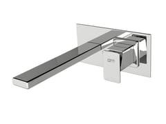Miscelatore per lavabo a muro con piastra PLAYONE 85 - 8510208 - Playone 85