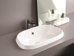 Lavabo da incasso soprapiano singolo in ceramica PLETTRO | Lavabo da incasso soprapiano -
