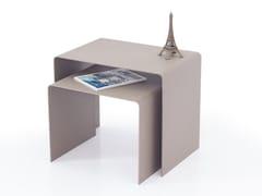 Tavolino alto rettangolare in acciaioPLUG - INOX DESIGN DI SARAGGI ENNIO