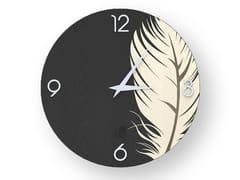 Orologio da parete in legno intarsiato PLUME COLD | Orologio - DOLCEVITA NATURE