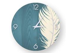 Orologio da parete in legno intarsiato PLUME COLORS | Orologio - DOLCEVITA NATURE