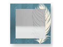 Specchio quadrato da parete PLUME COLORS | Specchio - DOLCEVITA NATURE