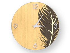 Orologio da parete in legno intarsiato PLUME WARM | Orologio - DOLCEVITA NATURE
