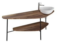 Mobile lavabo da terra in noce PLURAL | Mobile lavabo - Plural