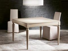 Tavolo allungabile quadrato in legno impiallacciato PLURIMO | Tavolo laccato -