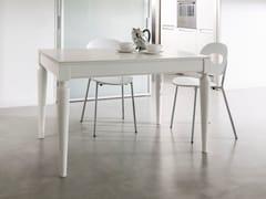 Tavolo allungabile laccato in legno impiallacciato PLURIMO | Tavolo rettangolare -