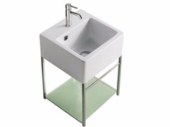 Mobile lavabo sospeso in ottone cromato PLUS DESIGN 29 X 29 | Mobile lavabo - Plus Design