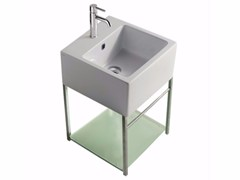 Mobile lavabo sospeso in ottone cromato PLUS DESIGN 39 X 39 | Mobile lavabo - Plus Design