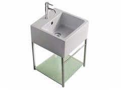 Mobile lavabo sospeso in ottone cromato PLUS DESIGN 39 X 39 | Mobile lavabo - Plus Design
