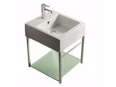 Mobile lavabo sospeso in ottone cromato PLUS DESIGN 47 X 47 | Mobile lavabo - Plus Design