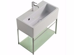Mobile lavabo sospeso in ottone cromato PLUS DESIGN 49 X 26 | Mobile lavabo - Plus Design