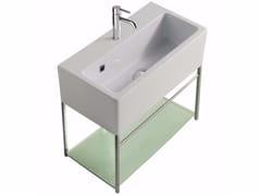 Mobile lavabo sospeso in ottone cromato PLUS DESIGN 49 X 26 | Mobile lavabo - Plus Design