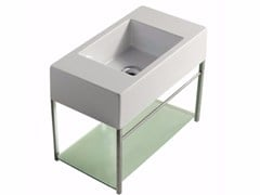 Mobile lavabo sospeso in ottone cromato PLUS DESIGN 54 X 29 | Mobile lavabo - Plus Design