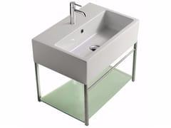 Mobile lavabo sospeso in ottone cromato PLUS DESIGN 59 X 39 | Mobile lavabo - Plus Design