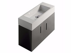 Mobile lavabo laccato sospeso in MDF con ante PLUS DESIGN 75 X 30 | Mobile lavabo - Plus Design