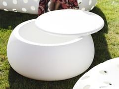 Tavolino da giardino in polietilene con vano contenitorePLUST - T BALL - ARCHIPRODUCTS.COM