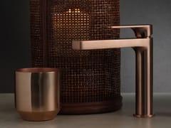 Miscelatore per lavabo da piano monocomandoPOIS BRUSHED ROSE GOLD - RUBINETTERIE RITMONIO