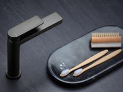 Miscelatore per lavabo da piano monocomandoPOIS FROSTED BLACK CHROME - RUBINETTERIE RITMONIO