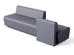 Panca modulare in poliuretano con schienaleHUB | Panca da giardino in poliuretano - FIRPLAST