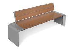Metalco, PONTE W   Panchina con schienale  Panchina con schienale