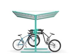 Pensilina in acciaio per biciclette e motoriniCISON | Pensilina - CITY DESIGN