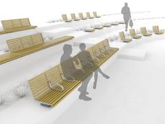 Panchina in acciaio e legno con braccioli PORT | Panchina con braccioli - Portiqoa