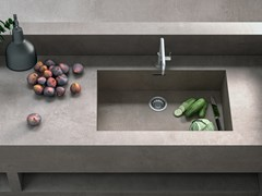 Top cucina in gres porcellanato effetto cementoPORTLAND 3.0 - CERAMICA FONDOVALLE